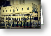 Landmarks Of Usa Greeting Cards - Venice in Las Vegas Greeting Card by Susanne Van Hulst