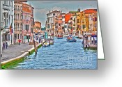 Old Cities Greeting Cards - Venice in shimmering light Greeting Card by Heiko Koehrer-Wagner