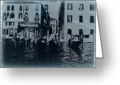 Gondola Digital Art Greeting Cards - Venice Greeting Card by Irina  March