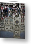 Flooding Photo Greeting Cards - Venice Parade Greeting Card by Patrick English