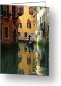 Thelightscene Greeting Cards - Venice Reflections Greeting Card by Bob Christopher