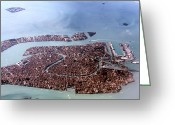 St Marc Greeting Cards - Venice sky view Greeting Card by Cedric Darrigrand