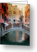 Evening Scenes Photo Greeting Cards - Venice Visions Greeting Card by Eggers   Photography