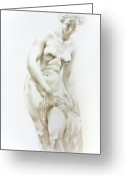Valeriy Mavlo Drawings Greeting Cards - Venus 1a Greeting Card by Valeriy Mavlo