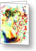 Greek Sculpture Painting Greeting Cards - Venus De Milo Greeting Card by Christy  Freeman