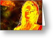 Plasma Greeting Cards - Venus Is Home Greeting Card by Methune Hively