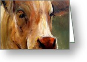 Charolais Greeting Cards - Vera Greeting Card by Cari Humphry
