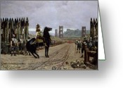 Encampment Greeting Cards - Vercingetorix before Caesar Greeting Card by Henri Paul Motte