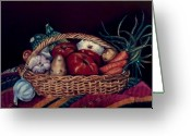 Frisco Pastels Greeting Cards - Verduras Greeting Card by Diana Moya