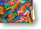 Expression Pastels Greeting Cards - Veridical Knowledge Greeting Card by Matt Crux
