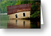 Grand Memories Greeting Cards - Vermont Boathouse Greeting Card by John Haldane