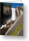 Digital-photography Photo Greeting Cards - Vernal Falls Greeting Card by James Marvin Phelps