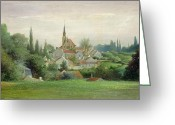 Village Church Greeting Cards - Verriere le Buisson Greeting Card by Eugene Bourrelier