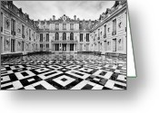 Versailles Greeting Cards - Versailles architecture Paris Greeting Card by Pierre Leclerc