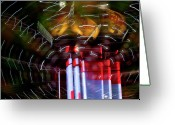 High Wheel Greeting Cards - Vertigo Greeting Card by Barbara  White