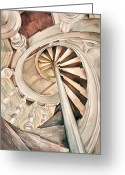 Vertigo Painting Greeting Cards - Vertigo Greeting Card by Elizabeth York