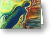 Vertigo Painting Greeting Cards - Vertigo Greeting Card by Jessica Kauffman