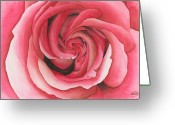 Vertigo Painting Greeting Cards - Vertigo Rose Greeting Card by Ken Powers