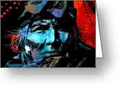 Native Portraits Greeting Cards - Veteran Warrior Greeting Card by Paul Sachtleben