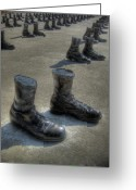 Missouri Photographer Greeting Cards - Veterans Memorial Walk Greeting Card by Jane Linders