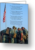 Men Greeting Cards - Veterans Remember Greeting Card by Carolyn Marshall