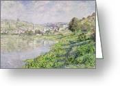 Europe Painting Greeting Cards - Vetheuil Greeting Card by Claude Monet