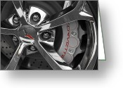 Brake Greeting Cards - Vette Wheel Greeting Card by Dennis Hedberg