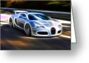 Amazing Greeting Cards - Veyron - Bugatti Greeting Card by Pamela Johnson