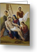 Pieta Painting Greeting Cards - Via Dolorosa 13 Greeting Card by Svitozar Nenyuk