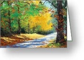 Elm Greeting Cards - Vibrant Autumn Greeting Card by Graham Gercken