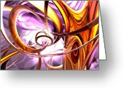 Netting Digital Art Greeting Cards - Vicious Web Abstract Greeting Card by Alexander Butler