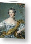 Royalty Greeting Cards - Victoire de France at Fontevrault Greeting Card by Jean Marc Nattier