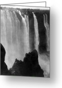Zambia Greeting Cards - Victoria Falls - c 1911 Greeting Card by International  Images