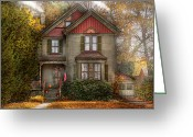 Autumn Scenes Greeting Cards - Victorian - Cranford NJ - Only the best things  Greeting Card by Mike Savad
