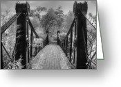 Missouri Photographer Greeting Cards - Victorian Bridge Greeting Card by Jane Linders