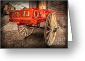 Cart Greeting Cards - Victorian Cart Greeting Card by Adrian Evans