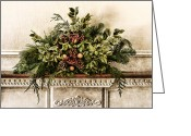 Fireplace Greeting Cards - Victorian Christmas Greeting Card by Olivier Le Queinec