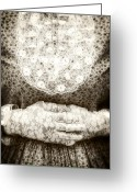 Edwardian Greeting Cards - Victorian Hands Greeting Card by Joana Kruse