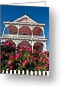 Cape May Nj Photo Greeting Cards - Victorian House Cape May Greeting Card by John Greim