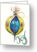 Holiday Notecard Greeting Cards - Victorian Joy Ornament Greeting Card by Michele Hollister - for Nancy Asbell