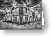 Beer Greeting Cards - Victorian Pub Greeting Card by Adrian Evans