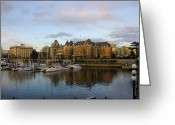 Greaves Greeting Cards - Victorias Inner Harbour Greeting Card by John  Greaves