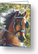Backlit Painting Greeting Cards - Victorious Greeting Card by Ally Benbrook