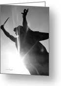 Swordsman Greeting Cards - Victory Greeting Card by Donna Blackhall