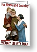 Warishellstore Greeting Cards - Victory Liberty Loan Greeting Card by War Is Hell Store