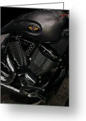 Motorcycle Photo Greeting Cards - Victory Motorcycle Greeting Card by Diane E Berry