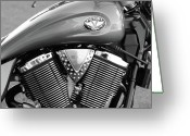 V Twin Greeting Cards - Victory Motorcycle Virginia City NV Greeting Card by Troy Montemayor