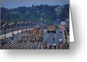 Arlington Memorial Bridge Greeting Cards - Victory Parade Greeting Card by Carl Purcell