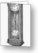 Viennese Greeting Cards - Vienna: Court Clock, 1862 Greeting Card by Granger