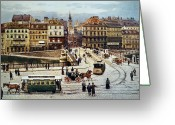 Viennese Greeting Cards - Vienna: Ferdinandsbreucke Greeting Card by Granger